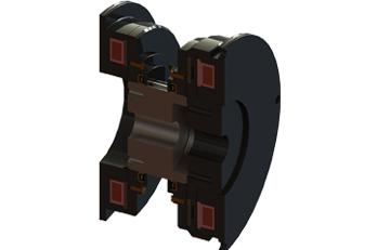 Embreagem e Freio Eletromagnético Polar com regulagem Automática UPSF / RA